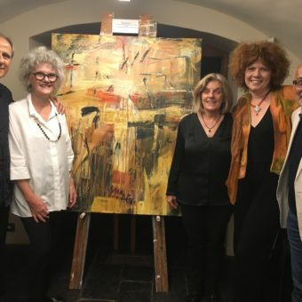 Raffaele Agostino, Judith White, Janet Agostino, Rachel and Richard Charlton at the 'Consonance' CD launch.